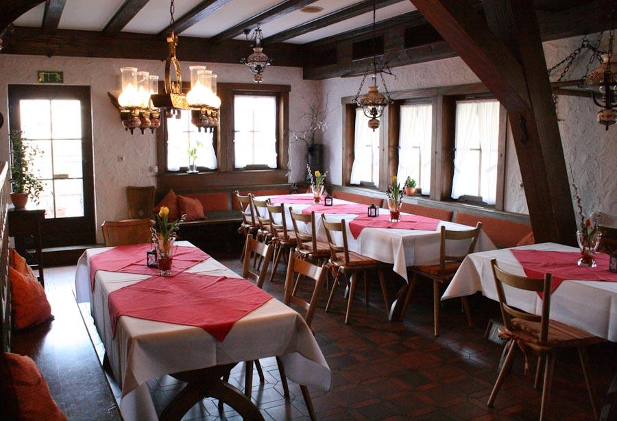 Das Restaurant « Die Alte Bauernschänke in Steinach i.K.